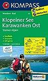 Klopeiner See - Karawanken Ost - Steiner Alpen: Wanderkarte mit KOMPASS-Lexikon und Radwegen. GPS-genau. 1:50000: Wandelkaart 1:50 000 (KOMPASS-Wanderkarten, Band 65)
