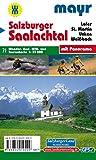 Salzburger Saalachtal: Wander-, Rad-, MTB- und Tourenkarte 1:35000 mit Panorama