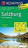 Salzburg und Umgebung: Wanderkarte mit Aktiv Guide und Radwegen. GPS-genau. 1:25000 (KOMPASS-Wanderkarten, Band 17)