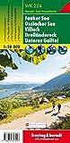 WK 224 Faaker See - Ossiacher See - Villach - Dreiländereck - Unteres Gailtal, Wanderkarte 1:50.000, Freytag Berndt Wanderkarten: Wandel- en fietskaart 1:50 000